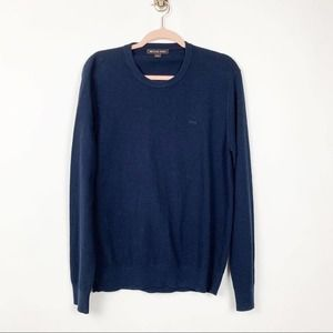 Mens Michael Kors Navy Blue Crew Sweater #0486